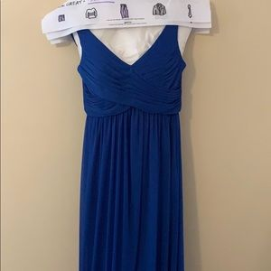 Dresses & Skirts - Formal blue back draped dress
